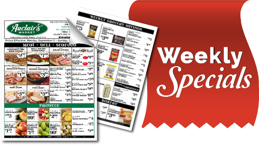 weekly specials Button
